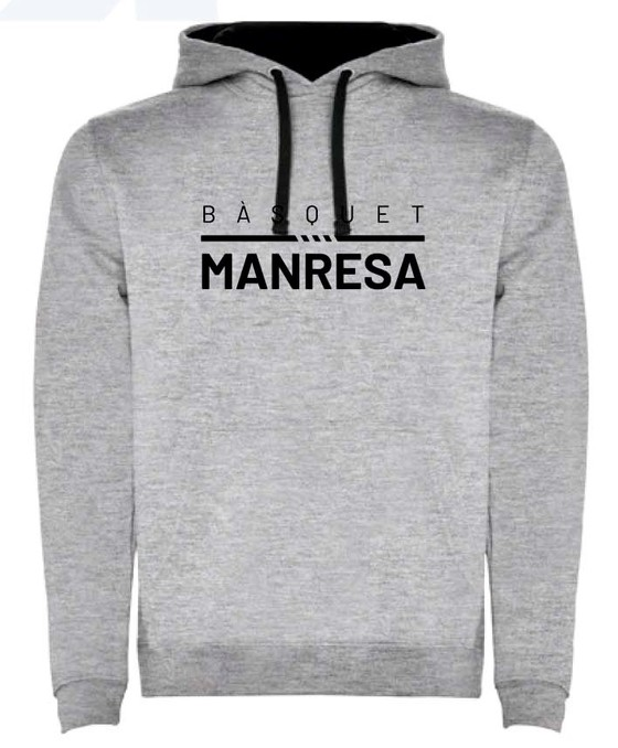 Bàsquet Manresa grey kids sweater Kids Size: 6