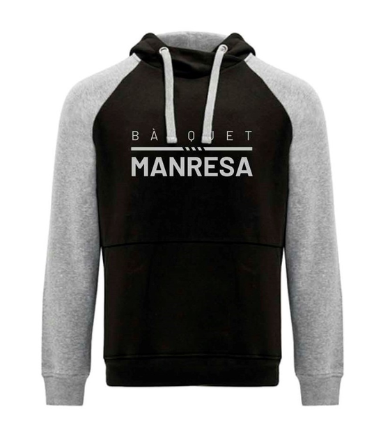 Bàsquet Manresa black sweater Adult Size: S