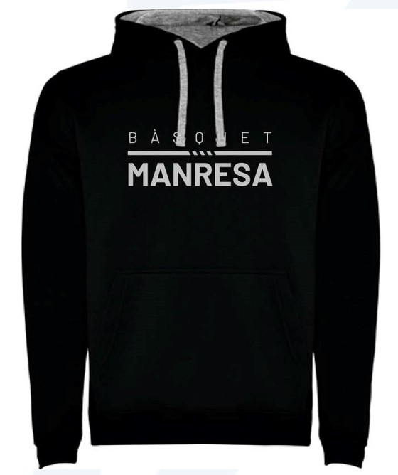 Bàsquet Manresa black kids sweater Kids Size: 6
