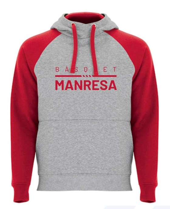 Bàsquet Manresa grey sweater Adult Size: S